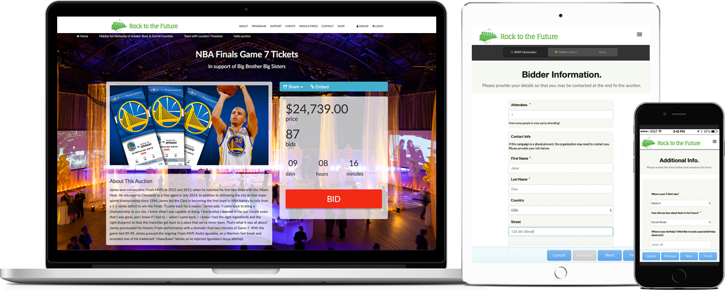 Online Bidding Auction Fundraising Software For Nonprofits Giveffect
