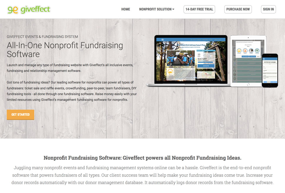 Nonprofit Fundraising Management Software Giveffect