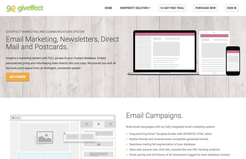 Email Direct Mail Marketing Software For Nonprofits Giveffect
