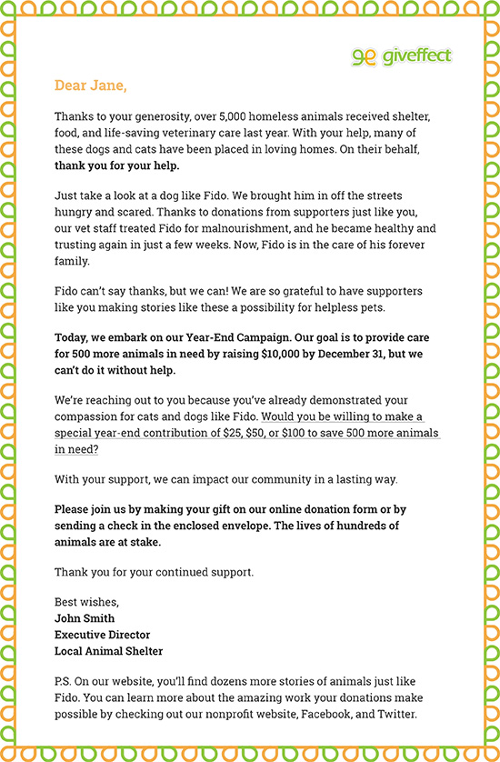 Sample Fundraising Letter: Year-End Donation Request Letter