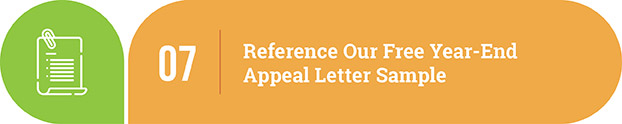 Year-end appeal letter tip | Reference our free year-end appeal letter sample