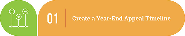 Year-end appeal tip | Create a year-end appeal timeline